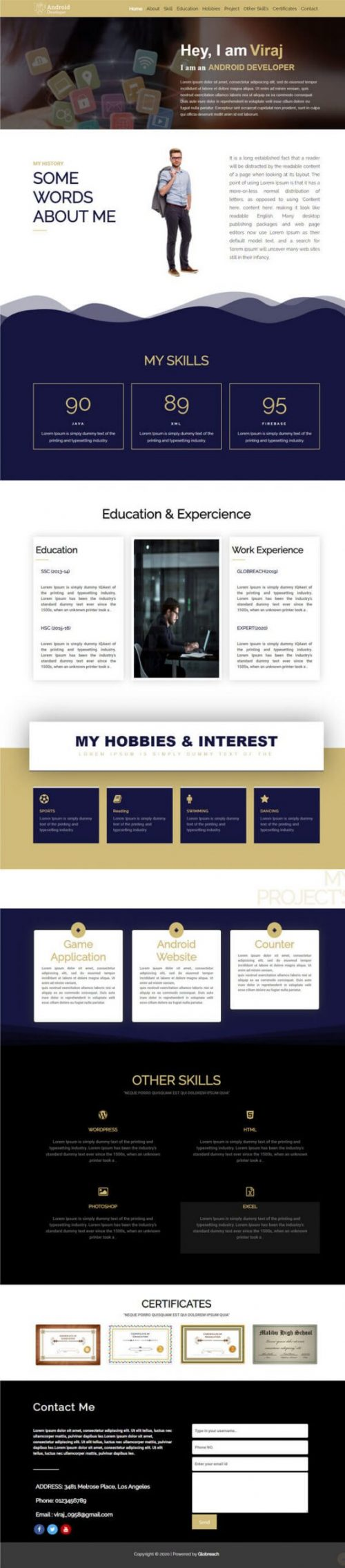 Ralph – Mobile Apps professional template.