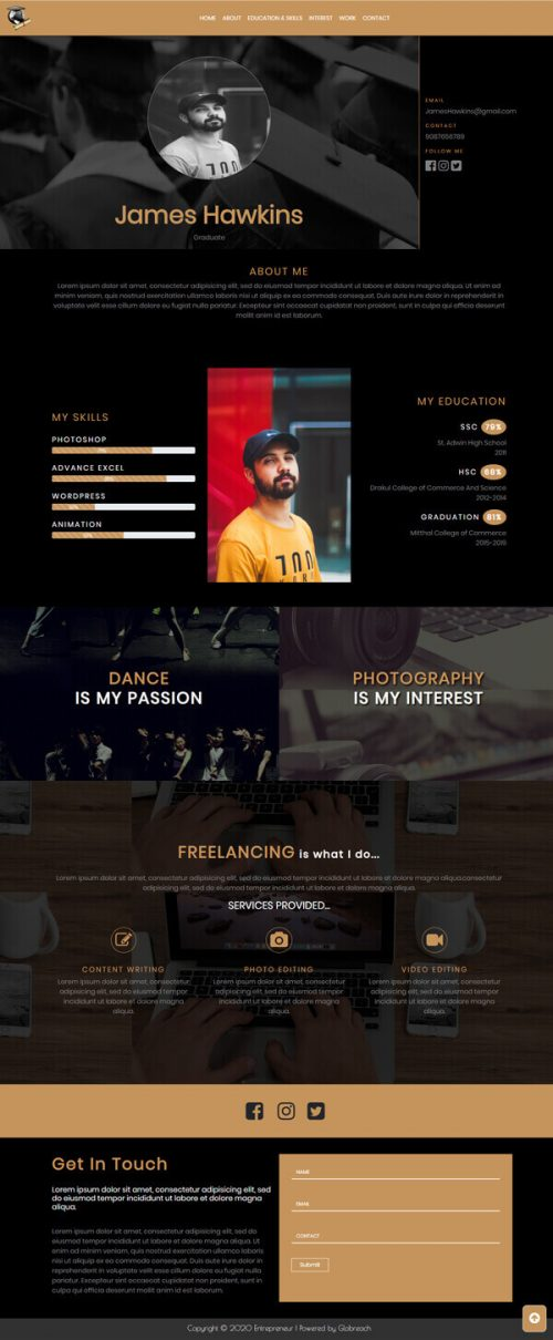 Journey – Graduate fresher HTML Template