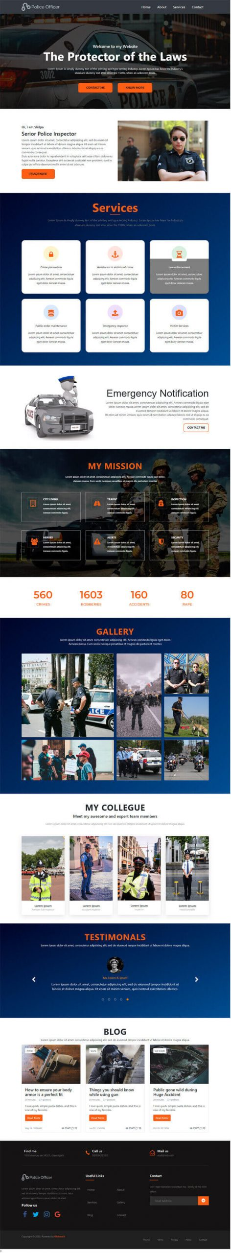 Uno – Prosecutor & Law Protector HTMLtemplate