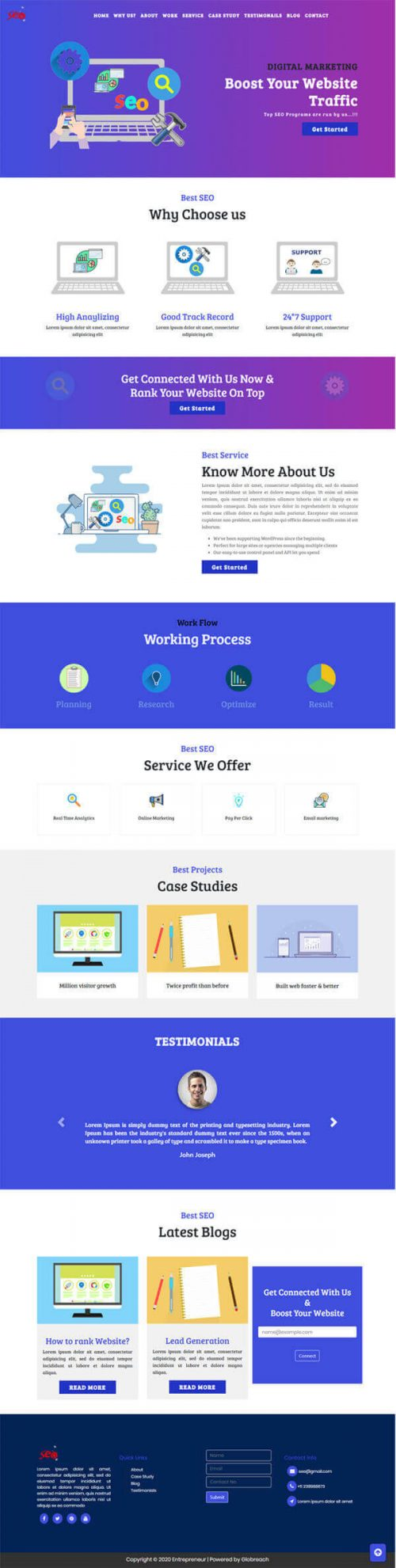Bolt – SEO Digital marketing website design template