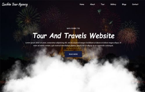 Smoky Travels –  Travel Agent Banner with Responsive Widget