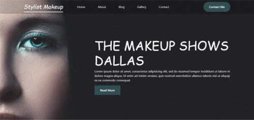 Beautician – Makeup Stylistic and Beauty Models Banner Widget