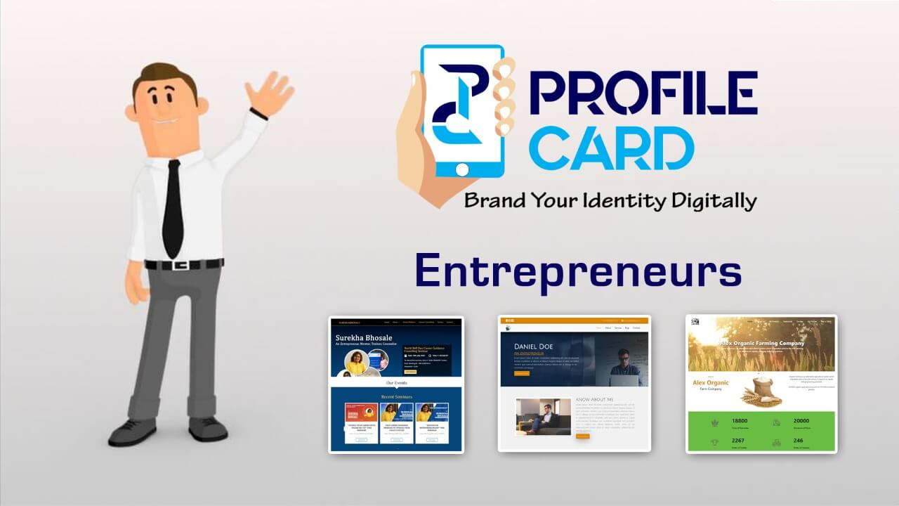 Profilecard for Entrepreneurs