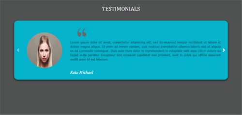 Carol – Multi Full Width Slider Testimonals Widget