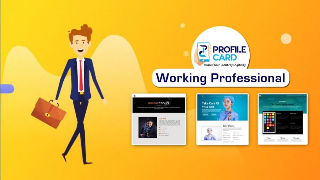 Profilecard for working professional